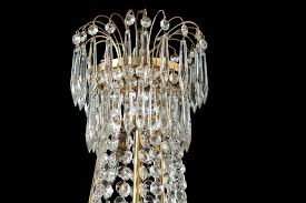 faceted cut glass crystal chandelier sweden circa 1900