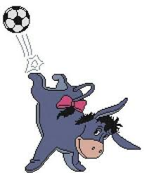 Cross Stitch Craft Pattern Eeyore Donkey Football Soccer