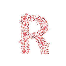 Romantic Letter Delectable Romantic Floral Letter R Royalty Free Cliparts Vectors And Stock