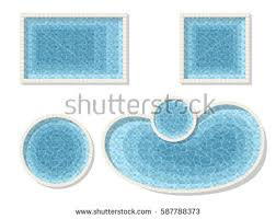 swimming pool vector. Set Different Forms Swimming Pools. Rectangular, Square And A Circular Pool. Top View Pool Vector
