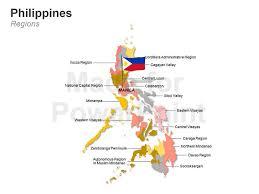 Philippines Map Editable Ppt Slides