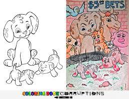 funny children coloring book corruptions 21