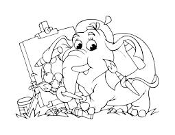 Dessin L Phant Artiste Pour Enfant Imprimer Gratuit Dessin