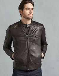 men s v racer café racer jacket in dark brown men s leather jackets belstaff