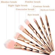 unicorn brush set. 7/10/12pcs diamond shape makeup brush set dazzle glitter foundation powder brushes unicorn rainbow eyeshadow brush-in \u0026 tools