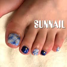 夏秋海浴衣フット Sunnailのネイルデザインno3450349ネイルブック