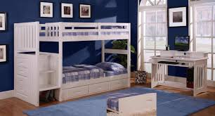Discovery World Furniture Twin over Twin White Staircase Bunk Beds