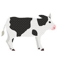 おしゃれ で かわいい 牛うしウシの フリー イラスト 商用