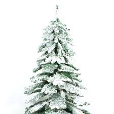 Flocked Christmas Tree Snow Covered Flocked Downswept Artificial Christmas Tree