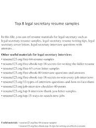 Legal Assistant Sample Resume Resume Template Directory