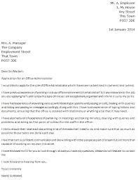 Admin Cover Letter Uk Office Administrator Cover Letter Example