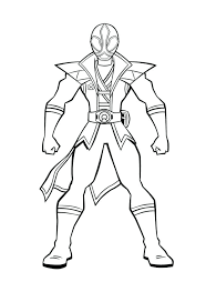Power Rangers Printable Coloring Pages Ranger Ninja Steel Gold