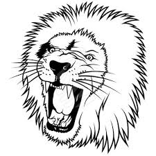 lion face black and white clipart. White Clip Art In Lion Face Black And Clipart