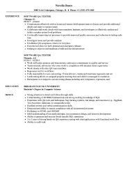 Qa Tester Resume Sample Software QA Tester Resume Samples Velvet Jobs 18