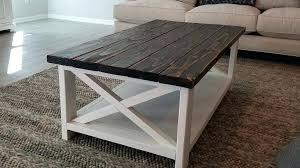 rustic coffee table 2 tone industrial diy log ideas farmhouse with storage