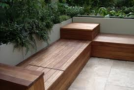 diy outdoor deck storage bench