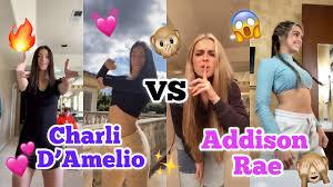 Charli D'Amelio VS Addison Rae TikTok Dance Battle!! - YouTube
