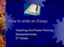 timed writing only minutes ppt video online  how to write an essay teaching unit power point by samantha avery 2 nd grade