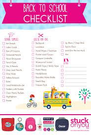 Checklist For School Back To School Checklist Free Printable