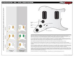 toneshaper wiring kit stratocaster hh5 total green machine toneshaper wiring kit stratocaster hh5 total green machine professional documentation included professional documentation included