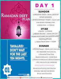 Ramadan Diet Plan Day 1 Ramadan Diet Ramadan Recipes