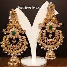 Long Heavy Earrings Design Heavy Peacock Jhumkas In 2019