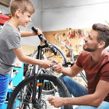 father and son garage door ideas