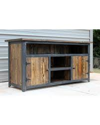 Reclaimed Wood TV Console Industrial Stand Tv  Rustic Industrial Stand I42