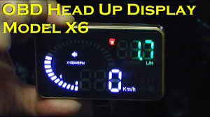 Car <b>Head</b> Up Display with Compact Display - Model <b>X6</b> - YouTube