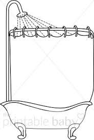 shower tub clipart. Modren Tub Black And White Shower Tub Clipart Throughout B