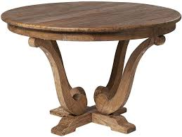 on old reclaimed elm round dining