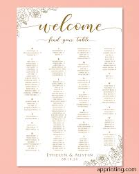 Flames Central Seating Chart Simple Vertical Floral Wedding Seating Charts