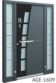 black and grey contemporary front doors uk