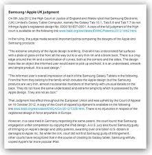 apology to samsung leaves u k judge at loss apple s apology to samsung leaves u k judge at loss