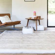 pelle feel rugs in cream and beige    by ligne pure