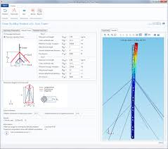 Tower Guy Wire Tension Chart Connecting The Dots Between Theory Model And App Comsol Blog