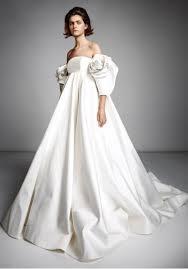 Rose Wedding Dress Designer Viktor Rolf Vrm138 Empire Waist Rose Sleeves Satin Ball