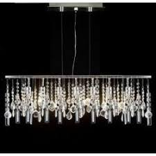 linear crystal chandelier. Modern Contemporary Linear Chandelier Lighting Lamp With Crystal H58 X W38