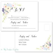 wedding rsvp postcards templates rsvp postcard template download eden flower design response card
