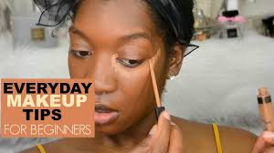 beginners make up tips how to apply concealer and foundation easy everyday makeup for darkskin