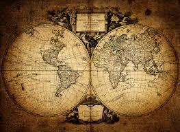 1752 vintage world map