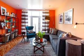 Teal And Orange Bedroom Grey And Orange Living Room Home