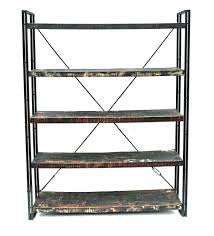 metal book shelves.  Metal Moti Furniture Addison Reclaimed Wood And Metal Book ShelfWall Unit To Shelves N