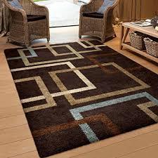 terrific blue and brown area rugs on orian geometric linked in mocha rug 53 x 76