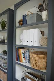 check out the diy bookshelves in this home office makeover
