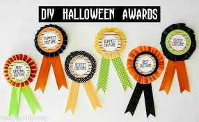 Best Halloween Costume Award Diy Halloween Costume Award Prize Ribbons