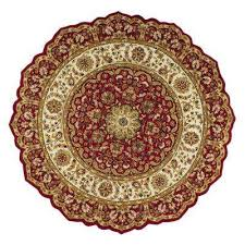 masterpiece red 8 ft round area rug