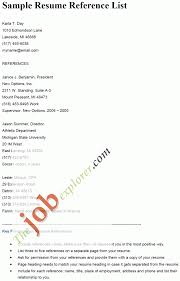 resume reference list template sample references page for in   fresher resume preparation tips essay deconstruction songs of how to write reference letter for resume refe