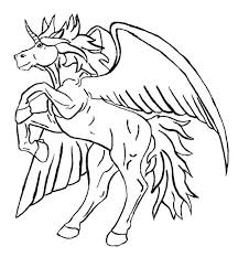 unicorn with wings coloring pages. Beautiful Unicorn Intended Unicorn With Wings Coloring Pages E
