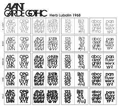 Avant Garde Gothic Light Index Of Typo Lubalin_herb Img Fonts